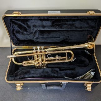 The Bach TR301 trumpet is a student level instrument.