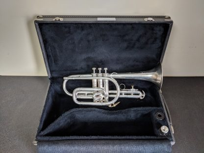 Cleveland Silver Plated Satin Finish Cornet