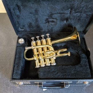 This Getzen piccolo trumpet is a professional grade horn.