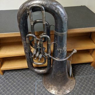 This Hawkes and Son Tuba is a vintage horn.