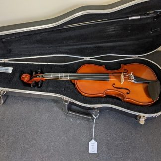This Lewis 3/4 violin is a student model instrument.