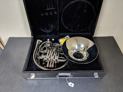 Nickel-Plated Double French Horn