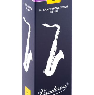Horn Hospital has Vandoren Tenor Saxophone Reeds, , Sold by a Box of 5, Available in Strengths: #2.5, #3, or #3.5