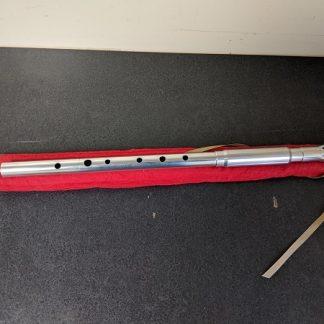 A Michael Burke aluminum low D Pro Viper tin whistle.