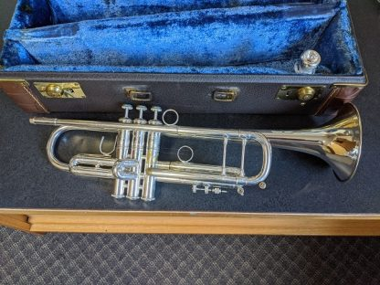 This Bach Stradivarius trumpet is a professional grade horn.