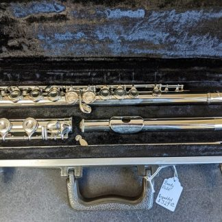 This Bundy flute is a good instrument for a beginning player.