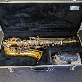 This Bundy alto sax is a good instrument for a beginner player.