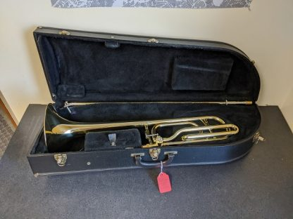 This Getzen trombone is the 747 model out of the 700 series trombones.