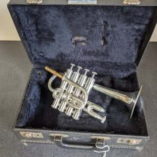 This Getzen piccolo trumpet is a professional horn.