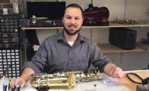 Nick Reparing a Saxophone