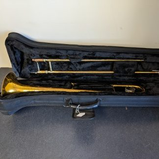 This King tenor trombone is a suitable instrument for a beginner.