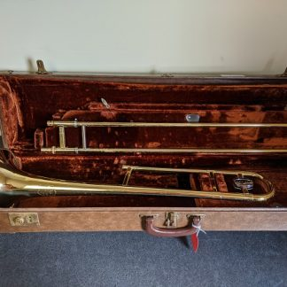 This Olds trombone would be a good horn for a student or a marching band player.