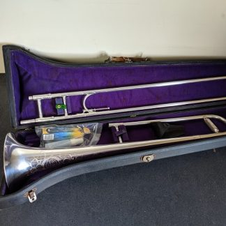 This Olds trombone is silver-plated.