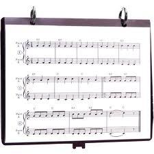 Use Plastic Flip Folders for Your Sheet Music