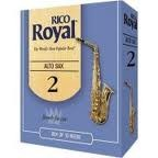 Rico Royal Alto Sax Reeds, Available in Box of 10 Reeds, #2, #2.5, #3, and #3.5