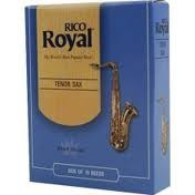 Rico Royal Tenor Saxophone Reeds, Box of 10, Strengths: #2, #2.5 and #3