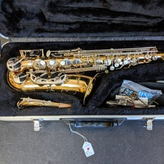 This Selmer AS500 is a nice saxophone for marching band because of its durability.