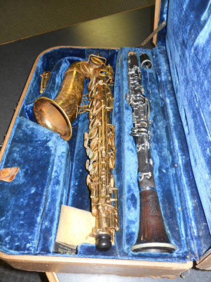 Used Instrument: Selmer Cigar Cutter Alto Sax and Clarinet--#15292/K5359 Photo 3