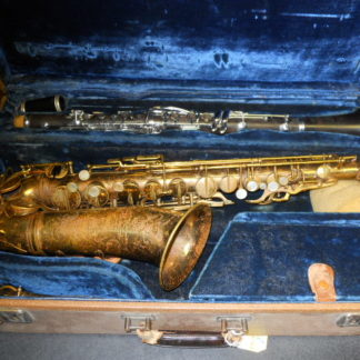 Used Instrument: Selmer Cigar Cutter Alto Sax and Clarinet--#15292/K5359