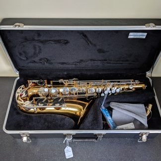 This Vito alto sax is a student level saxophone.