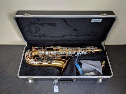This Vito alto sax is a student level saxophone.