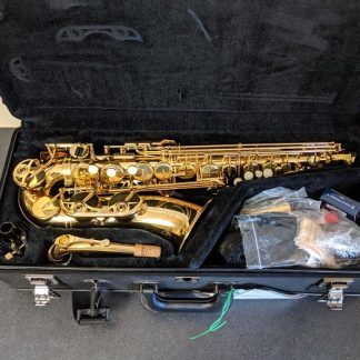 This Yamaha is a professional model alto saxophone.